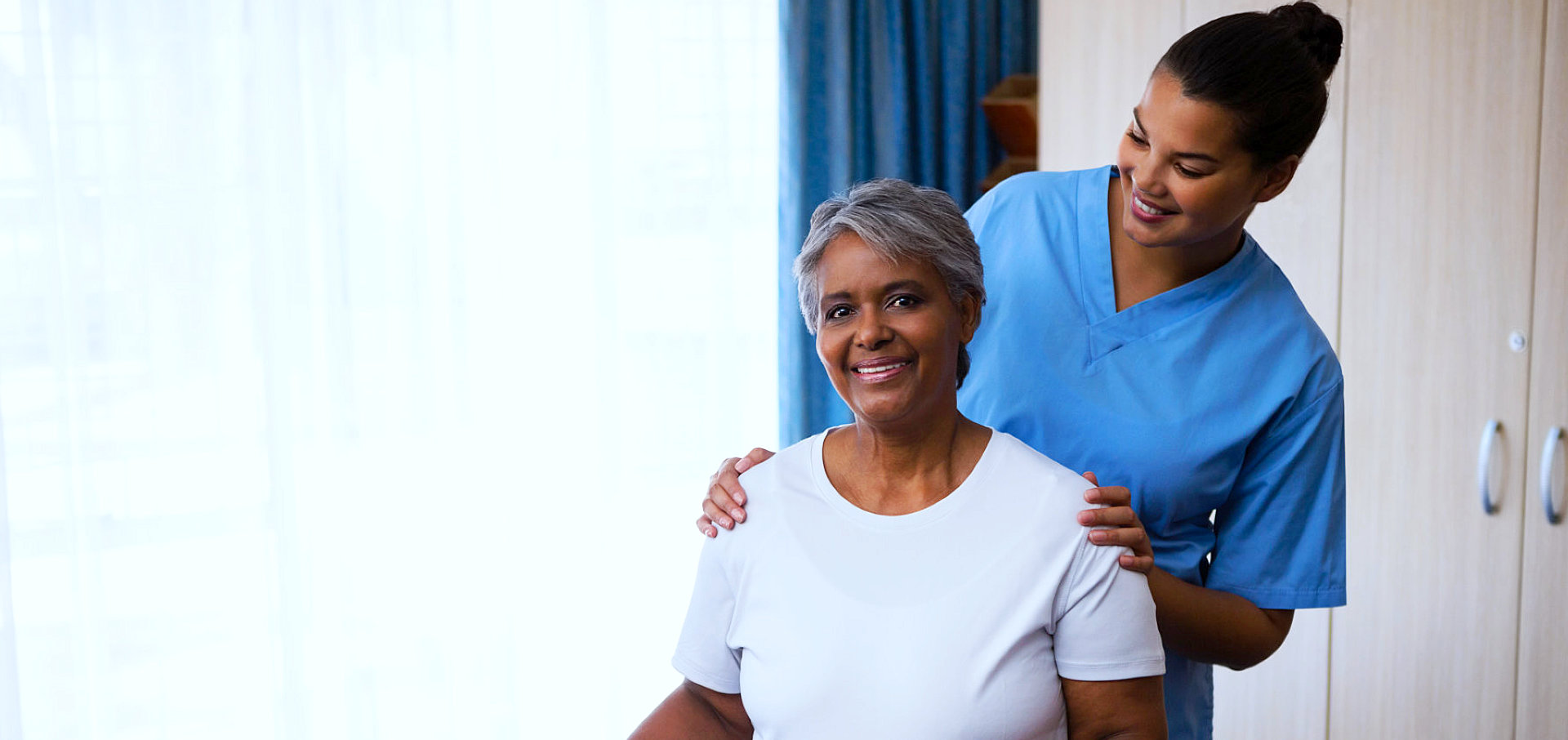 caregiver and her senior patient